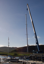 Taking the mast off at Ardfern
