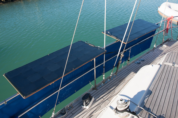 marine solar battery charger fitting